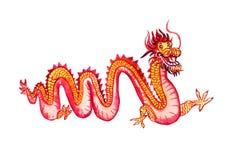 Chińczyk czerwieni i koloru żółtego długi smok Obrazy Stock