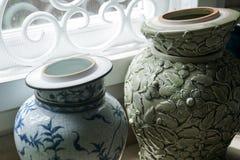 Chińczyk deseniowa tradycyjna waza obraz royalty free