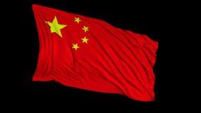 Chińczyk flaga w zwolnionym tempie r royalty ilustracja