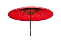 chińczyk oliwiący papierowy czerwony tradycyjny parasol Zdjęcie Stock