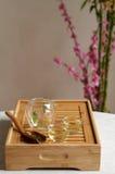chińczyk opuszczać ustalonej herbaty Zdjęcie Stock