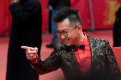 Chińczyk Richard Shen podczas Berlinale 2018 fotografia royalty free
