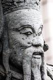 Chińczyk statuy kamienna statua kamienna sztuka w antycznym w przeszłości Fotografia Stock