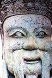 Chińczyk statuy kamienna statua kamienna sztuka w antycznym w przeszłości Obraz Royalty Free