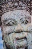Chińczyk statuy kamienna statua kamienna sztuka w antycznym w przeszłości Zdjęcia Stock