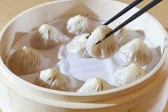 Chińczyk wieprzowiny Odparowana babeczka zdjęcia stock
