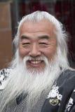 Chińczyk z tradycyjną brodą fotografia royalty free