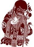 chińczyka artystyczny wzór Zdjęcie Royalty Free