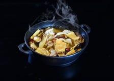 Chińczyka HotPot chińskiego stylu zupna baza zdjęcie royalty free