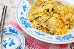 chińczyka jajko smażący styl zdjęcie royalty free