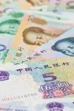 Chińczyka Juan banknoty dla pieniędzy pojęć, (Renminbi) Obrazy Royalty Free