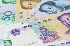 Chińczyka Juan banknoty dla pieniędzy pojęć, (Renminbi) Fotografia Stock