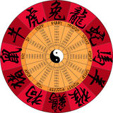 Chińczyka kalendarz z hieroglifami Zdjęcia Royalty Free
