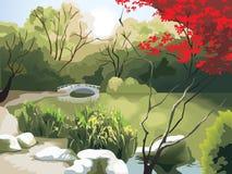 chińczyka krajobraz royalty ilustracja