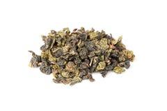 Chińczyka oolong zielona herbata odizolowywająca na bielu zdjęcie stock