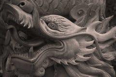 Chińczyka smoka rzeźby kamienni szczegóły obraz royalty free