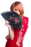 chińczyka smokingowa dziewczyny czerwień obraz royalty free