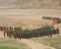 chińscy żołnierze zdjęcie royalty free