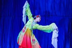 Chińscy akrobaci & tancerze blask księżyca lasu festiwal zdjęcie royalty free
