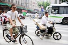 chińscy cykliści Obraz Stock