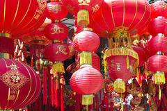 Chińscy czerwoni lampiony Obrazy Royalty Free