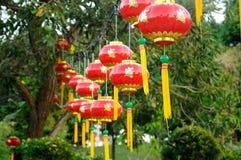 Chińscy Czerwoni lampiony (tanglung) ilustracji