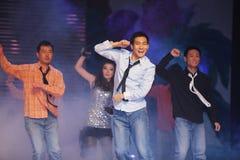 chińscy dancingowi potomstwa Obrazy Royalty Free