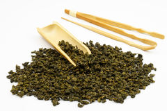 Chińscy Herbaciani liście z białym tłem Zdjęcie Royalty Free