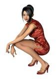 chińscy kobiet potomstwa zdjęcie royalty free