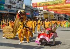 Chińscy nowy rok świętowania w Tajlandia Obrazy Stock