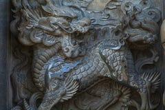 Chińscy przekonania religijne, kamienny cyzelowanie, religia zdjęcie royalty free