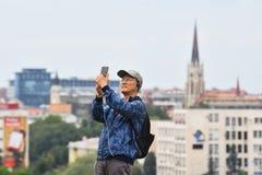 Chińscy turyści w Serbia zdjęcie royalty free