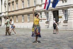 Chińscy turyści w Zagreb, Chorwacja zdjęcie stock