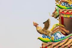 Chińska łabędzia statua. Zdjęcia Royalty Free
