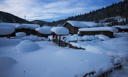 Chińska śnieżna wioska Zdjęcia Stock