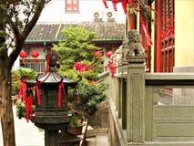 Chińska świątynia, czerwoni szczegóły, sztuka i historia w Chiny, obrazy royalty free