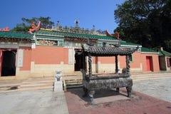 Chińska świątynia w trawy wyspie Zdjęcie Royalty Free