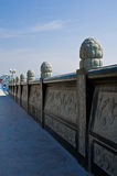 Chińska antyczna Kamienna tralka obrazy royalty free