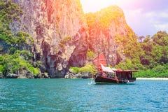 Chińska barque łódź przy Tajlandia lata podróży morzem zdjęcie stock