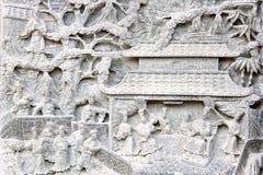 chińska basowa reliefowa świątyni Fotografia Royalty Free