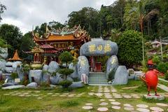 Chińska Buddyjska świątynia na wyspie Pangkor, Malezja w Listopadzie 29 Zdjęcie Royalty Free