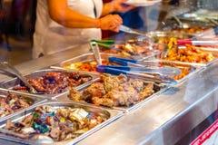 Chińska bufet restauracja w Londyńskim Chinatown zdjęcia royalty free