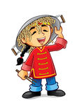 Chińska chłopiec royalty ilustracja