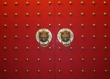 chińska drzwiowa rękojeść zdjęcie stock
