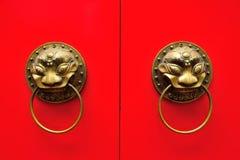 Chińska drzwiowa rękojeść obraz royalty free