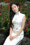 chińska dziewczyna portret tradycyjne obrazy royalty free