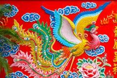 Chińska feniks rzeźba obrazy royalty free