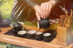 Chińska herbaciana ceremonia Zdjęcia Royalty Free