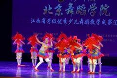 Chińska kępki Pekin tana akademia ocenia próbną znakomitą dziecka ` s tana nauczania osiągnięcia wystawę Jiangxi Zdjęcie Royalty Free
