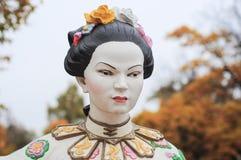Chińska kobiety rzeźba Zdjęcia Royalty Free